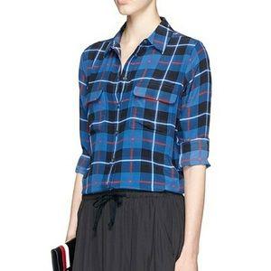 Fabulous Equipment Femme plaid shirt small